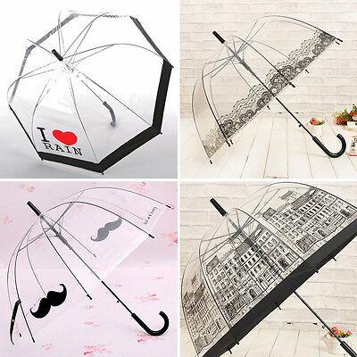 New Women's Transparent Lace Umbrellas Umbrella Beard House Creative Umbrella