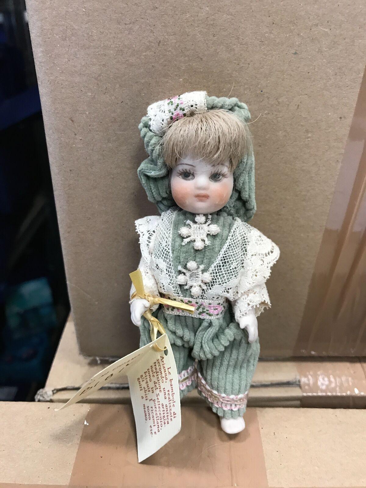 Artistas muñeca muñeca de porcelana 11,5 cm. top estado