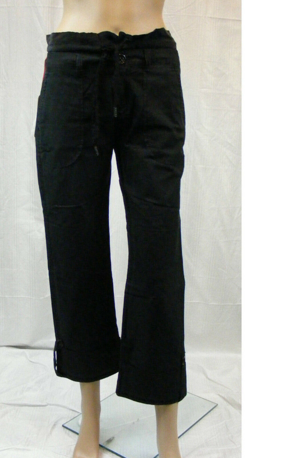 FORNARINA  w28  élégants pantalon - 3 4 - longu  Capri  M. soie  NEUF