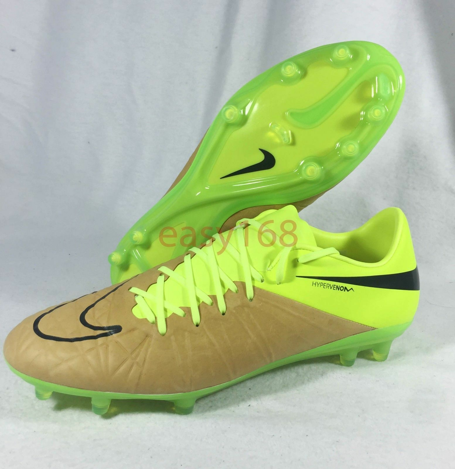 New Nike Hypervenom Phinish II Sz 10 Soccer 44 Cleats Leather 759980 Mens Volt