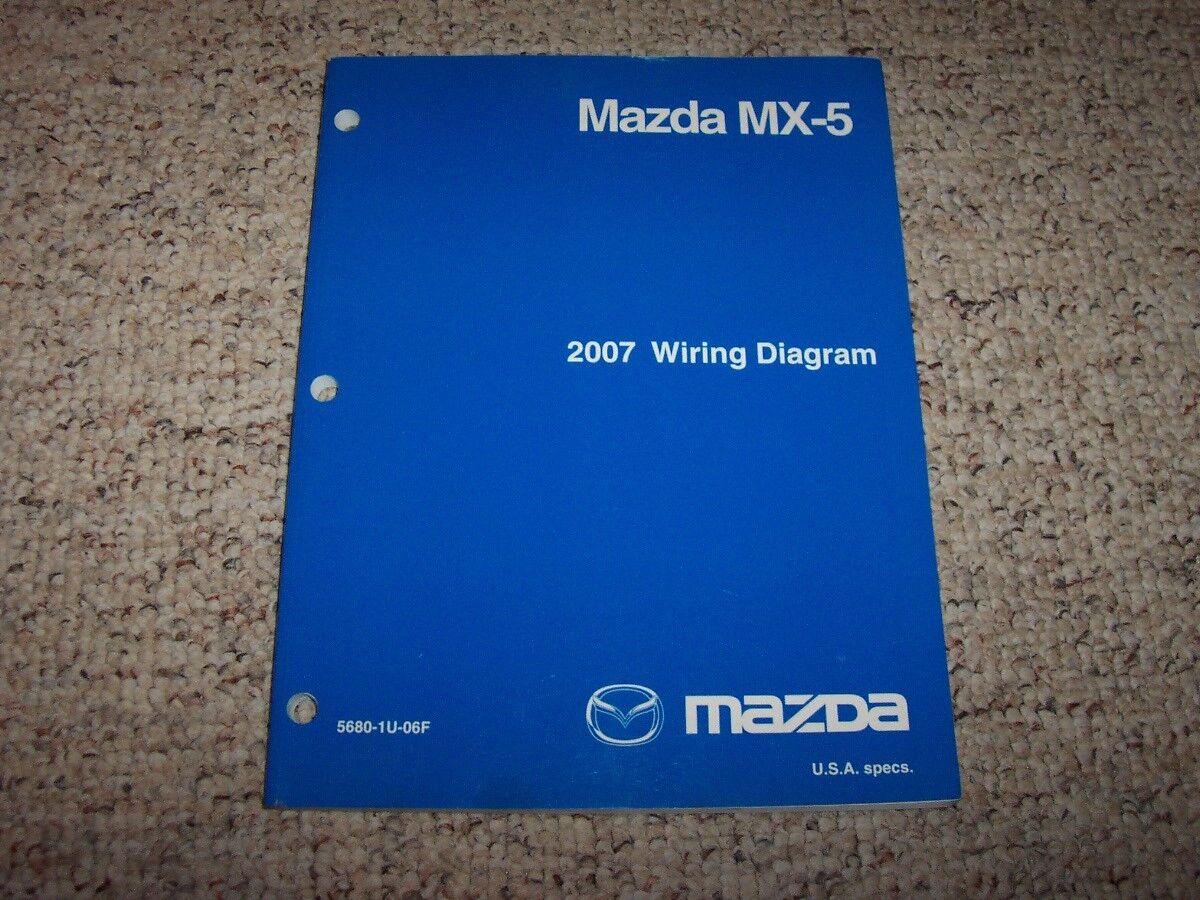 Super 2007 Mazda Mx 5 Factory Original Electrical Wiring Diagram Manual Wiring Digital Resources Biosshebarightsorg