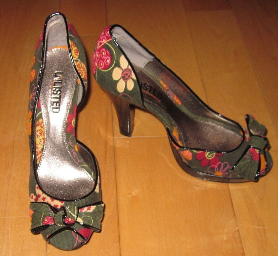 New Unlisted Kenneth Cole Dk Green Corduroy Floral Print I'm Spending 6