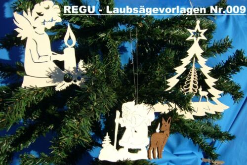 "/""19 verschiedene erzgebirgische Fensterbilder/"" REGU Laubsägevorlagen Nr.009"