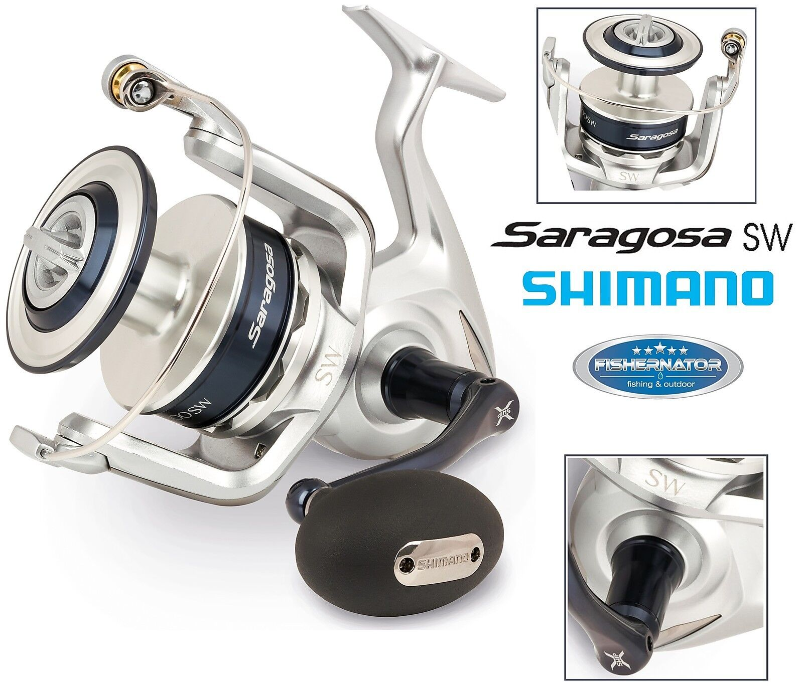 Shimano Saragosa 10000 SW Salzwasser Angelrolle, SRG10000SW
