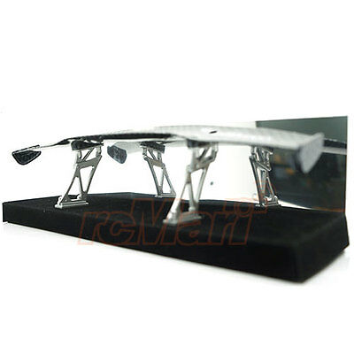 Slidelogy Shiny Carbon Pattern Spoiler Black Stands Type F 1:10 RC Car #SDY-0056