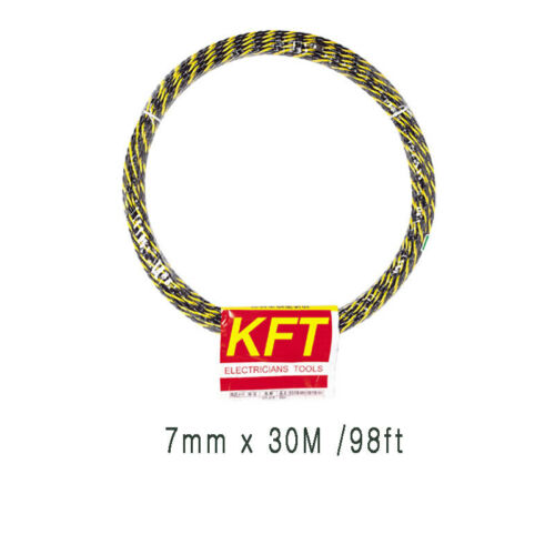 Electricians Fish Tape KFT Wire Cable Puller 7mm 50ft//98ft//164ft made Taiwan