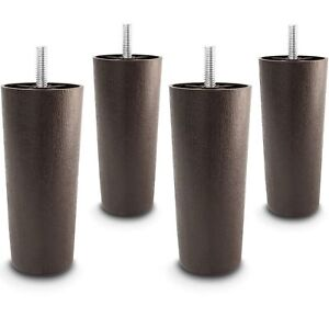 "5"" Universal Dark Brown Plastic Furniture Legs Sofa/Couch/Cha<wbr/>ir 5/16"" - Set of 4"