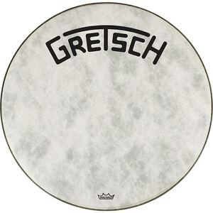 """Gretsch Bass Drum Head Fiberskyn 18"""" w/ Broadkaster Logo"""