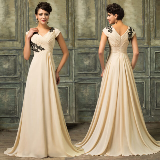 PLUS + Long Mother Of The Bride/ Groom Dresses Formal Evening Wedding Gown Dress