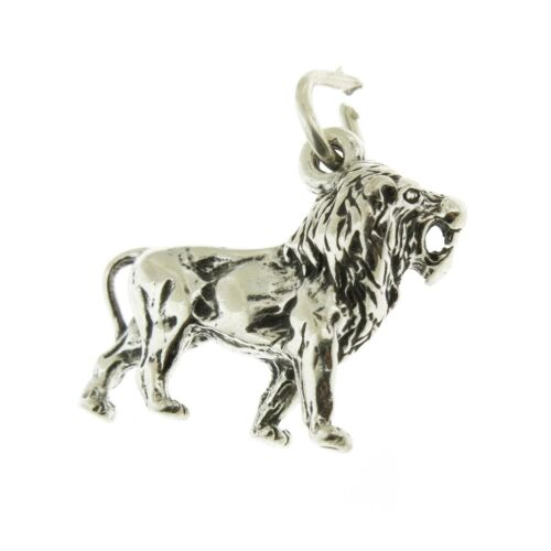 Argent Sterling 925 African Lion Charm Made in USA