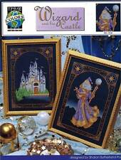Wizard & His Castle Cross Stitch PATTERNS Sorcerer Magician Medieval Wise Man