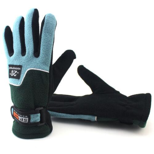 Herren Damen Fahrrad Handschuhe Thermo Warme Mountainbike Joggen Sport Winter
