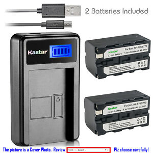Kastar-Battery-LCD-Charger-for-NP-F770-Sony-MVC-FD73-MVC-FD75-MVC-FD81-MVC-FD83
