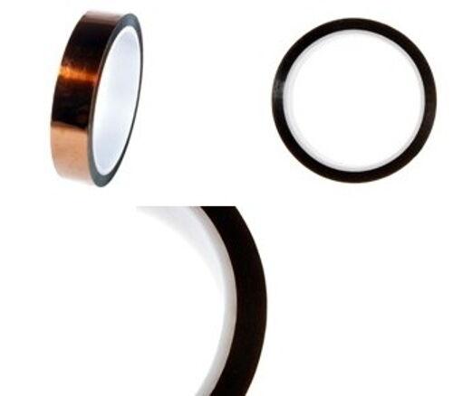 4 rollos kapton//liamida alta temperatura taparé//cinta aislante 19mm x 33m Premium