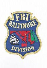 FBI Federal Bureau of Investigation Patch Baltimore Division