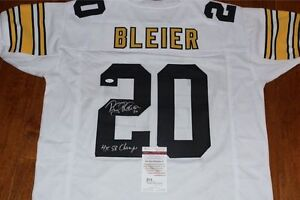 release date: 647e3 5882f Details about Rocky Bleier Signed Pittsburgh Steelers Jersey /JSA COA 70's  4X Super Bowl Champ