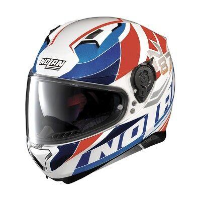 NOLAN N87 PLEIN AIR WHITE BLUE RED BIKE MOTORCYCLE MOTORBIKE HELMET
