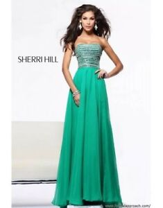 f7a7409e0b2a Image is loading Strapless-Emerald-Green-Prom-Dress-Sherri-Hill-style-