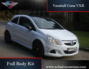 vauxhall corsa vxr full body kit for corsa d | ebay