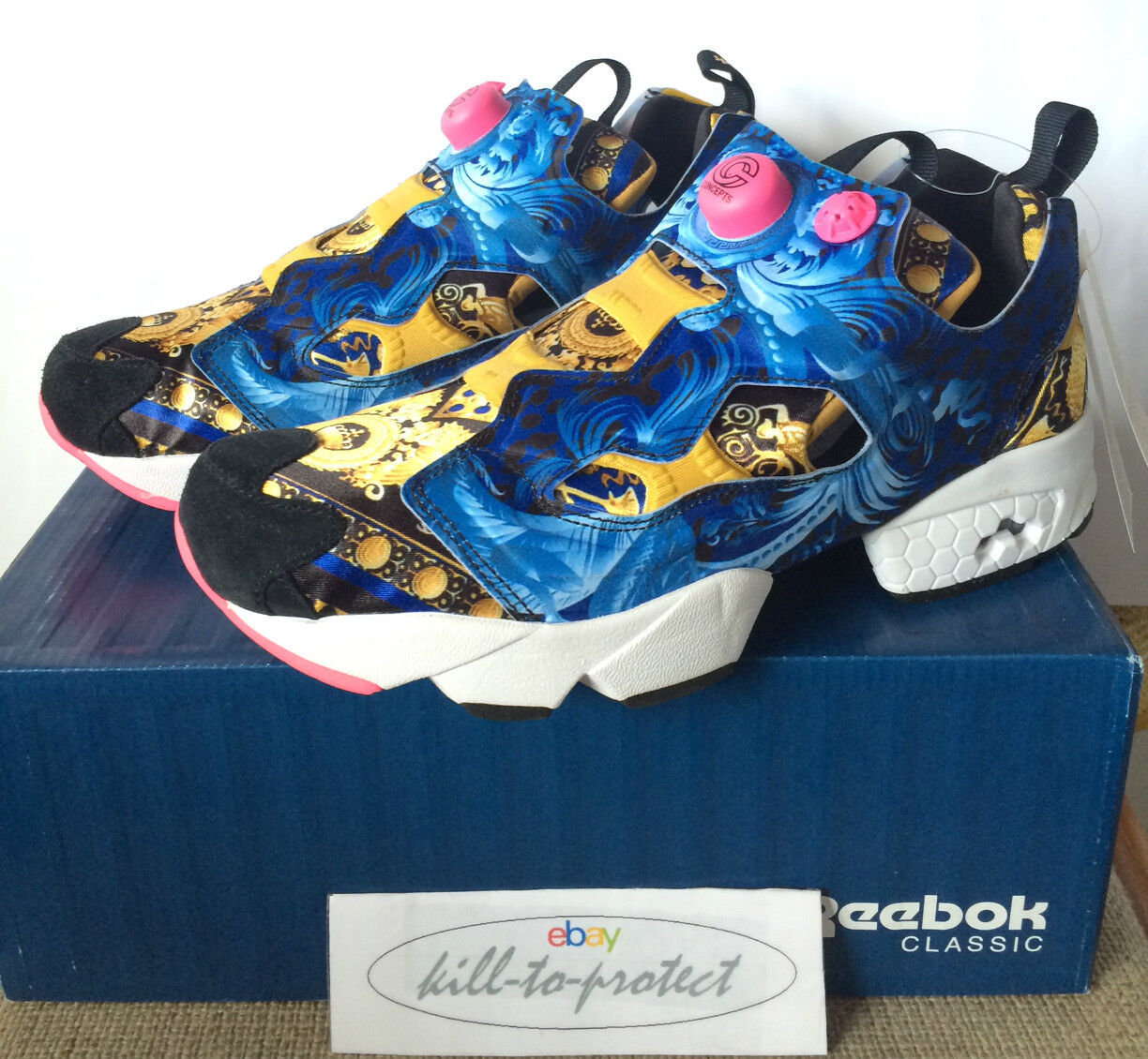 REEBOK x CONCEPTS OG INSTA PUMP FURY Sz US9 UK8 gold M4293 2014 Release SNS FP