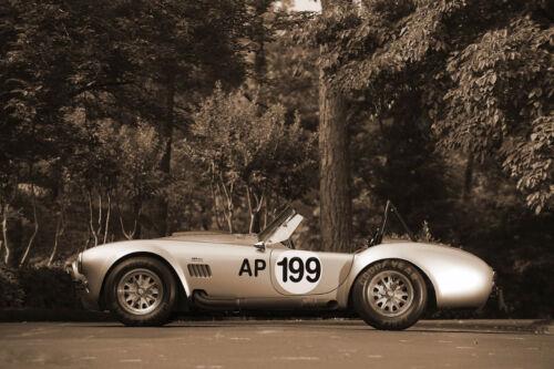 Vintage Picture Porsche Aston Martin Ferrari AC Cobra KIT CAR Framed Print
