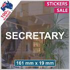 SECRETARY Sticker ANY SIZE! Decal Custom Office Shop Sign VINYL LETTERING (1011)