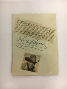 ROY ROGERS Autographed HAND SIGNED