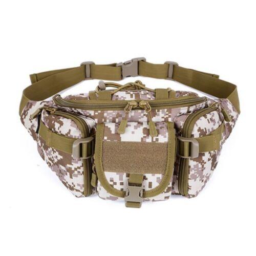 Mens Women Military Cycling Waist Fanny Pack Bum Belt Bag Pouch Travel Hip Purse