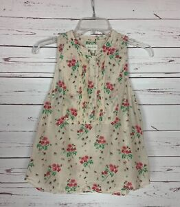 Meadow Rue Anthropologie Women's Size 2 Pink Floral Silk Blend Summer Top Blouse