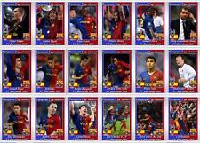 FC Barcelona European Champions League winners 2009 football trading cards