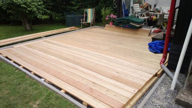25 m² sibirische Lärche Terrassendielen 3,00 m Terrassenholz Holz Diele Balkon