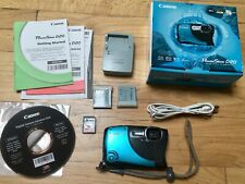 Canon PowerShot D20 12.1MP Digital Camera, Blue + Extra Battery and 2GB Card