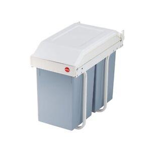 Hailo-Einbau-Muelleimer-Muelltrennung-System-2x14L-Volumen-Abfallsammler-Eimer-NEU
