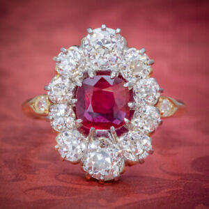 ANTIQUE-VICTORIAN-1-60CT-RUBY-DIAMOND-CLUSTER-RING-18CT-GOLD-CIRCA-1880
