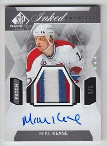 2015-16-UD-SPGU-MIKE-KEANE-AUTO-PATCH-8-INKED-SWEATERS-3C-SP-GAME-USED-Canadien