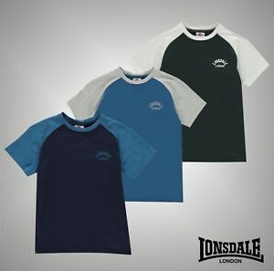 Junior-Boys-Branded-Lonsdale-Short-Sleeves-Raglan-T-Shirt-Top-Size-Age-7-13