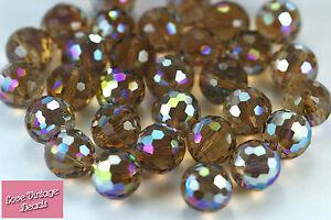 3a244e312 2x Vintage Swarovski Crystal Colorado Topaz AB 5003 Disco Ball ...