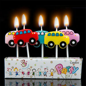 Image Is Loading BUSES Novelty Birthday Cake Candle Candles Topper Figure