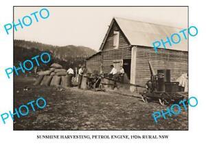 OLD-8x6-PHOTO-SUNSHINE-HARVESTER-ENGINE-c1920-NSW