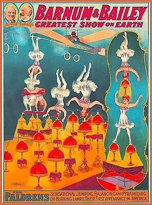 circus art poster Barnum /& Bailey wall art prints Us Seller