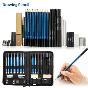 40Pc-Professional-Sketching-Drawing-Set-Art-Pencil-Kit-Graphite-Charcoal-Artists