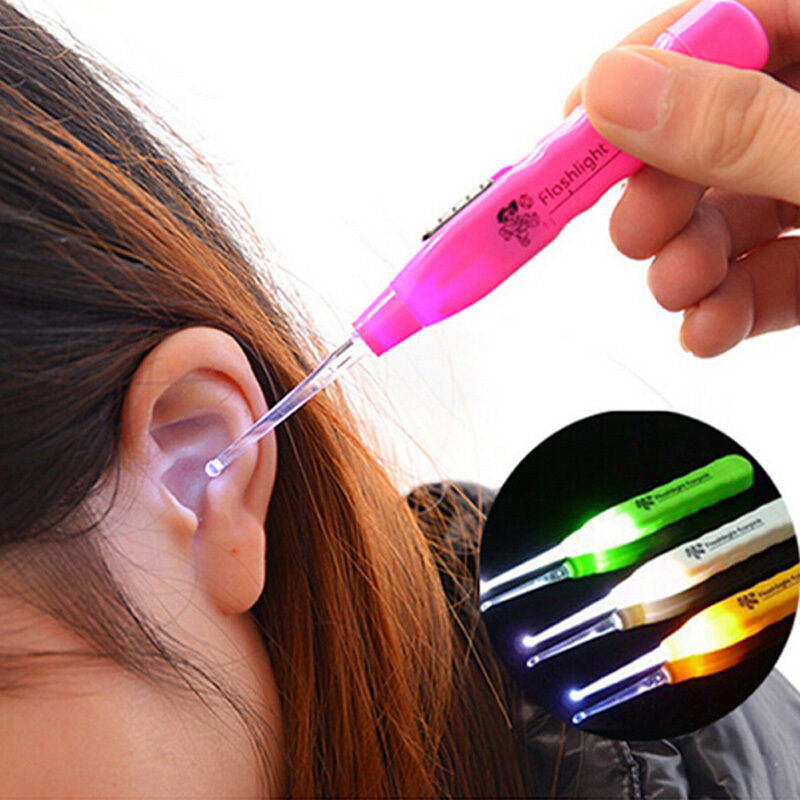 Ear Pick Wax Remover Cleaner Curette With LED Flashlight Light Health Care Kit