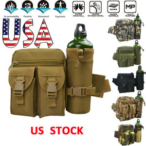 Outdoor-Military-Tactical-Bag-Water-BottleWaist-Pack-Camping-Backpack-Hiking-USA