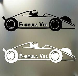 Details about Formula Vee sticker Vinyl decal race graphics scca ford for  Vw volkswagen V