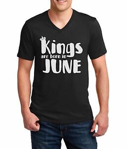 2-V-neck-Kings-Are-Born-In-June-Shirt-Birthday-Gift-For-Men-Dad-Fathers-Day-Tee