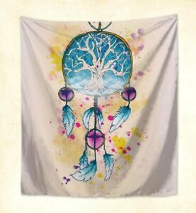 Details About Us Seller Watercolor Dream Catcher Wall Hanging Tapestry Abstract Art Prints
