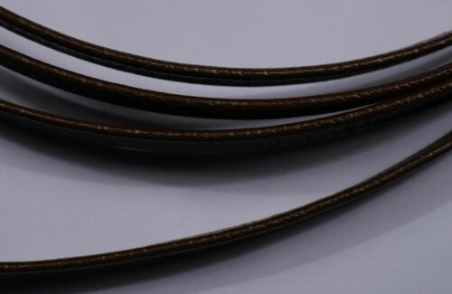 6.5mm brown flat faux leather cord strap thong jewellery 1.5mm thick