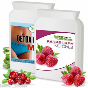 60-RASPBERRY-KETONE-amp-60-DETOX-COLON-CLEANSE-WEIGHT-LOSS-SLIMMING-DIET-PILLS