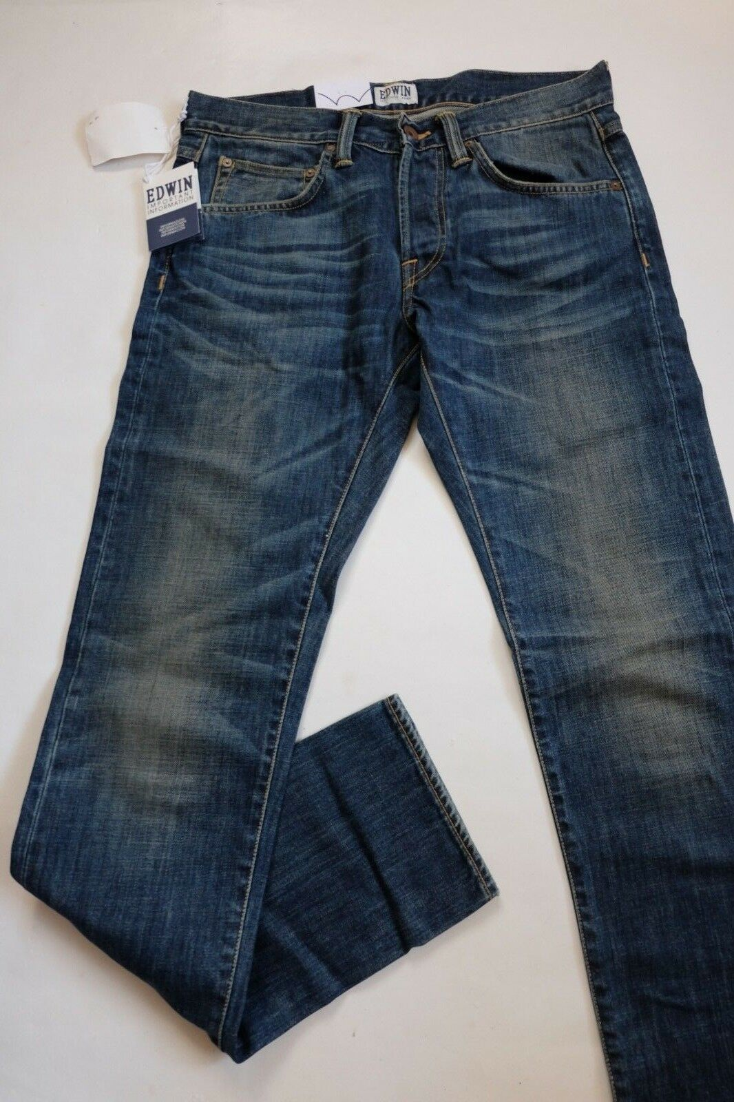 JEANS EDWIN MAN ED 55 RELAXED TAPERED (dark bluee -rise used) W30 L34 VAL