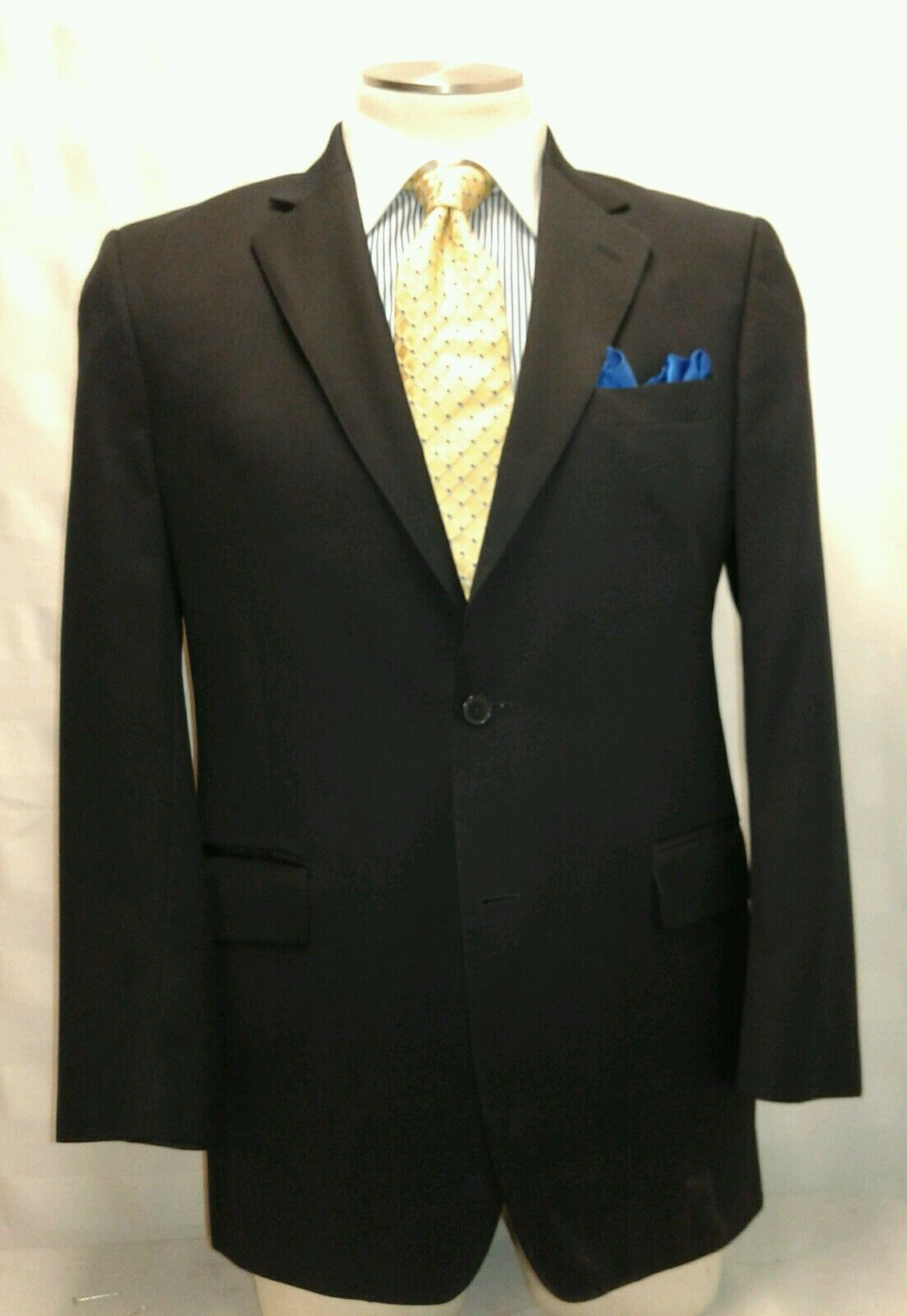 Herren JOS A BANK Blau 2 button single vent suit sz 42L